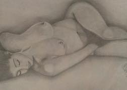 Life Drawing Naked Woman Sketch