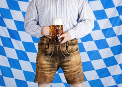 Man holding a Stein of Beer