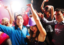Group in a nightclub