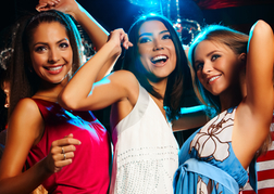 hen party in a nightclub