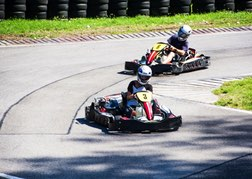 karts on outdoor track