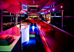 Party bus interior