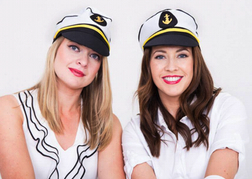Hen Party dressed a sailors for photo shoot
