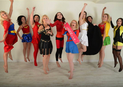 Super Heroes Hen Party Photo Shoot