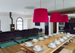 Posh bunkhouse dining room table