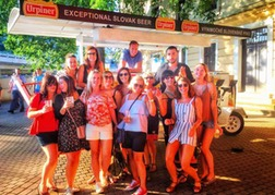 Prosecco Bike and hen party in Bratislava