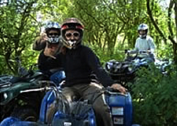 Stag Group On Quad Bikes