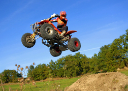 Quad Bike Mid Air