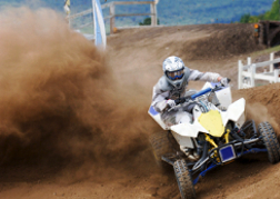 Quad Biking and kicking up dust