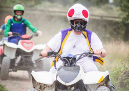 Quad Biking With Stag Group in Fancy Dress