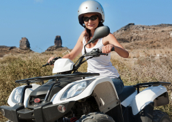 Lady on a Quad Biking