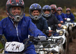 Group of Ladies on Quad Bikes