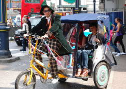Rickshaw in London