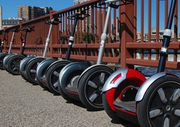 Segways Parked Up