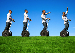 Stag Group On A Segway