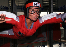 Lady Indoor Skydiving