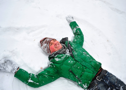 Man Lying in the Snow