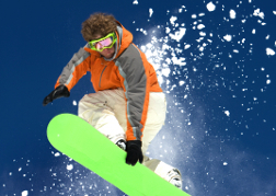 Snowboarder Catching Air