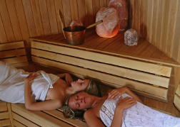 Inside a Sauna with a hen party