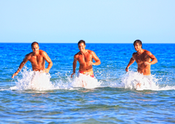 Lads in the Sea