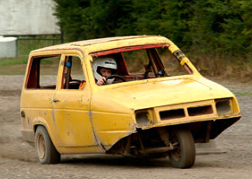 3 wheeled stock car Robin Reliant