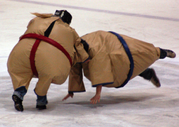 Stag Party in Sumo Suits wrestling