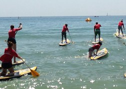 SUPing on Bournemouth Beach