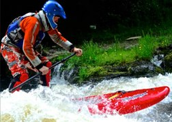 SUPing on a white water North Wales
