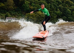 Surfing Conwy