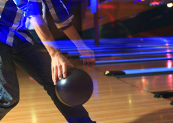 Man playing Ten Pin Bowling