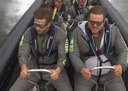 stag party on a doing the Velocity Rib ride
