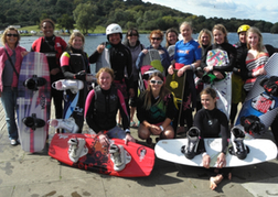 Hen Party about to go wake boarding