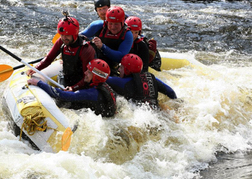 White Water Rafting in Frothy water