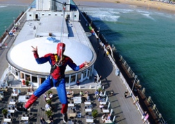 Zipwiring stag In Fancy Dress