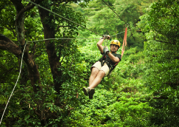 Man on Zipwire