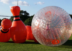 Zorb Skittles activity in Milton Keynes