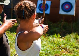 Lady Doing Archery