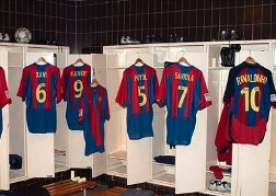 Barcelona Nou Camp Stadium Changing Rooms