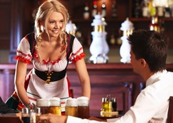 Beer Waitress & Stag