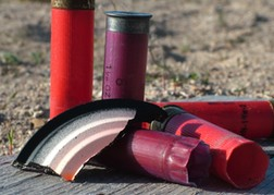 Clay Pigeon Shooting Spent Cartridges