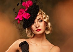 Lady Wearing Fascinator