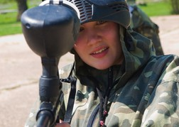 Paintballing Hen