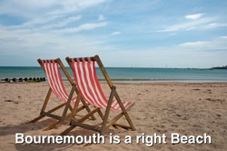 """Bournemouth Beach & Deck Chairs"