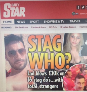Stag Do Story on the Daily Star