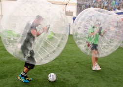 Playing Bubble Football