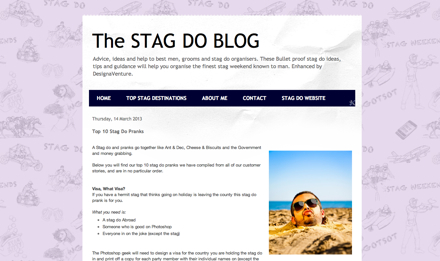 Stag Do Blog