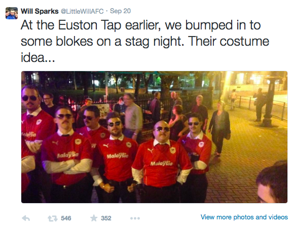 Stag Do dressed up like Vincent Tan