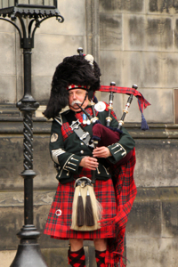 Man in Tartan & Bagpipes
