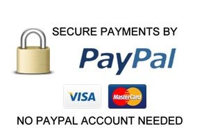 Paypal Logo along with credit card images