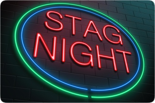 Luminous Stag Night Sign